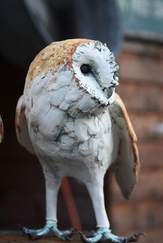 Life size barn owl 2012 by Joe lawrence art work Pottery Sculpture, Bird Sculpture, Animal Sculptures, Pottery Art, Sculpture Ideas, Ceramic Sculptures, Ceramic Birds, Ceramic Animals, Clay Animals