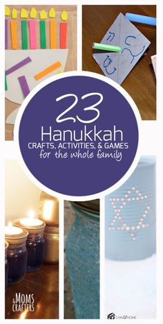 23 Hanukkah crafts and activities for the whole family - adult crafts, games, family activities, kids crafts and more - there's something for everyone this Chanukah!