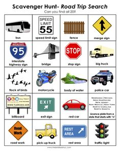 Scavenger Hunt for Kids- Road Trip Search Road Trip With Kids, Family Road Trips, Travel With Kids, Family Travel, Family Getaways, Road Trip Activities, Road Trip Games, Youth Activities, Summer Activities