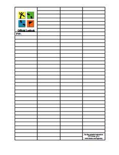 Printable Geocaching Log Book