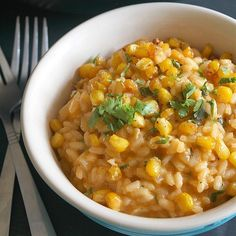 Roasted Corn Risotto with Smoked Paprika