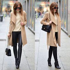 Barbora Ondrackova - Balenciaga Leather Leggings, Givenchy Boots - BEIGE AND CAMEL
