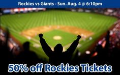 50% off Colorado Rockies Tickets vs San Francisco Giants Sun. Aug. 5 @ 1:10pm