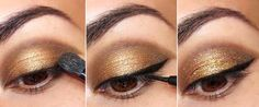 Precisa fazer uma maquiagem para arrasar em uma festa e falta tempo? Seus problemas acabaram! :P Com esse tutorial, tudo que você precisa é de lápis para olho marrom ou preto, sombra dourada e deli…