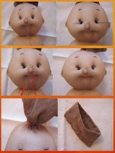 Manual With Pattern And Tutorialsewing Diy Toys Doll, Doll Crafts, Rag Doll Tutorial, Felt Puppets, Doll Making Tutorials, Sock Toys, Sewing Dolls, Waldorf Dolls, Soft Dolls