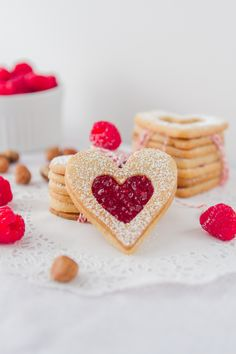 My Heart Goes Nut Cookies * Try peanut butter cut out cookie with jam inside, or nutella, or reeses style! - Juan - Damneet -Tia
