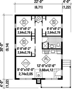 First Floor Plan of House Plan 52785