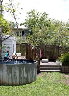 A concrete tank plunge pool?