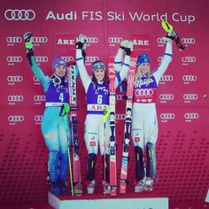 """""""Historical victory on home snow for , and Hansdotter at the SL! World Cup Skiing, Home Snow, Ski Racing, Alpine Skiing, 4 Hours, Victorious, Baseball Cards, Twitter"""
