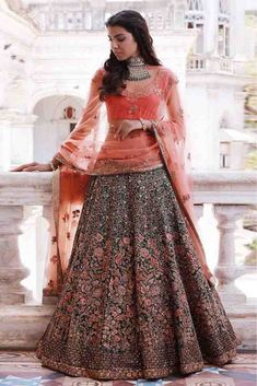 India Emporium is a one stop ethnic wear online store for all your online saree shopping, designer wear, salwar kameez, bridal wear, lehenga cholis & artificial jewellery needs. Indian Bridal Couture, Indian Bridal Lehenga, Indian Bridal Fashion, Indian Bridal Wear, Indian Wedding Outfits, Indian Wear, Bridal Lengha 2018, Lehenga Choli Wedding, Blue Bridal