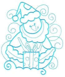 Enchanted Snowman 11 - 3 Sizes! | Winter | Machine Embroidery Designs | SWAKembroidery.com Sealed With A Stitch