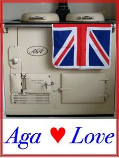 Aga cooker + Union Jack = double happiness