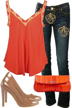 Orange! Styled outfit from Birdsnest