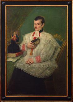 Anónimo Retrato del padre (nombre de pila no identificado) Costa, óleo sobre tela, 107 x 150 cm., ca. 1850-60, colección particular, catalogación: Juan Carlos Cancino.
