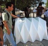 - サステナブルデザインイノベーション、エコ建築、グリーンビルディングInhabitat |建築学生は、折り紙の助けを借りて住宅シェルターデザイン