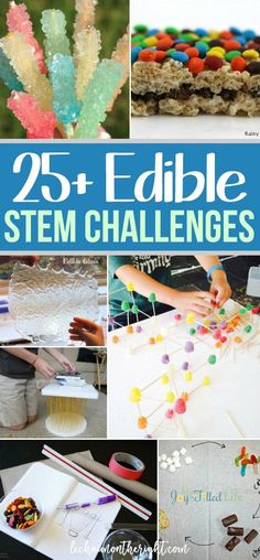 STEM is so much more fun when it involves food! Here are 25+ edible STEM experiments for kids to munch on while learning!