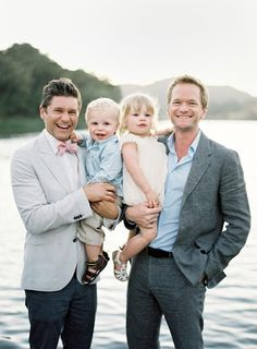 Neil Patrick Harris, David Burtka and twins. Such a beautiful family. #gay #dads
