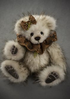 Miss Mocca - about 13 inches - faux fur. #artistbear #artistbears #teddybear #spring #vickylougher Bear Cubs, Bears, Teddybear, Mocca, Soft Dolls, Plushies, Faux Fur, Spring, Sweet