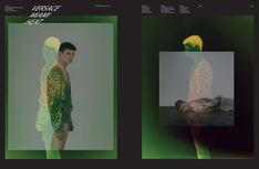 Arena Homme Plus - - Versace Miami Heat, Pascale De Wolff by Adam Broomberg + Oliver Chanarin Photography Editing, Creative Photography, Art Photography, Collage Design, Collage Art, Layout Inspiration, Graphic Design Inspiration, The Frankenstein, Magazine Layout Design