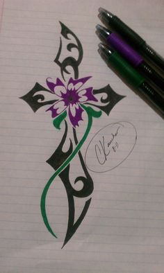 tribal cross tattoo by Inspired325.deviantart.com on @deviantART