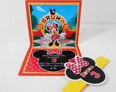 Convite 3D Minnie Vermelha