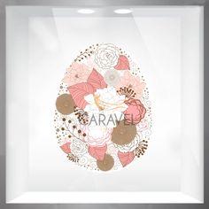 Πασχαλινή Διακόσμηση Βιτρίνας αυγό με λουλούδια