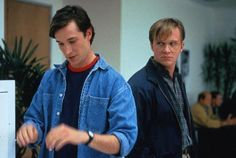 """Pirates of Silicon Valley"" (1999) - Noah Wyle as Steve Jobs  Anthony Michael Hall as Bill Gates,"