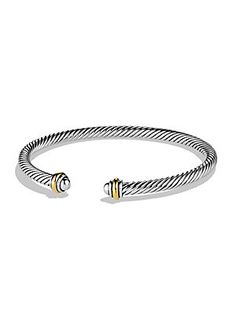 David Yurman Cable Classics Bracelet with Gold 0400087573598 Read 1 Reviews|Write a Review Q & A: Ask a Question|See All Q(1) & A(0) Color:Silver-Gold Size:SML SML AED 1560.63