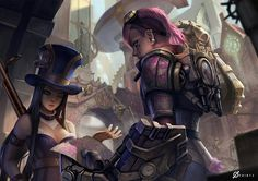 Caitlyn and Vi, the Piltover Patrol from League Of Legends