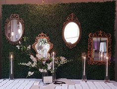 Wall of Mirrors by greenSinner Mirrors, Weddings, Mirror, Wedding, Marriage, Mariage, Glass