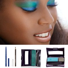 Flaunt a Makeup Look with aquatic and exotic colors! Cute Makeup, Makeup Looks, African American Beauty, Dark Complexion, Gorgeous Eyes, Beauty Review, Makeup Cosmetics, Body Care, Hair And Nails