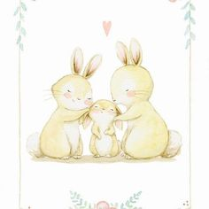 Family love #childrensillustration #bunny #watercolor #watercolorpainting #illustration #watercolour #myartwork #whimsyillos #myart #mommylove #aidazamora #flowers #watercolour_gallery #acuarela #childrensbook #art #animalillustration #handpainted #illustratenow #cutedrawing #ilustracioninfantil #cuteanimals #draw #cute #illustrationwall #instaart #art_we_inspire #artoftheday #childrenswritersguild #illustrationartists