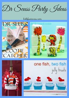 Fun Dr. Seuss party ideas for kids for National Reading Month