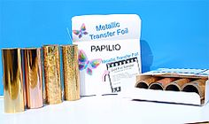 Gold Metallic Heat Transfer Foil Sampler - 4 in. x 5 ft. per roll - 4 Rolls