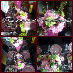 Chocolate, Pink n lime beautiful by Pink Diamond Elegance wedding Event & Rental