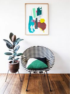 Tour a Vibrant Melbourne Home With Graphic Accents via @mydomaine | home decor | interior design | The Loft Brokers
