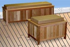 "Cedar Storage Bench-Outdoor Ready-With Cushion (Cedar w/ Natural Cushion) (Long - 18""h x 52""w x 19""d) by Cedar Creek. $231.00. Size: Long - 18""h x 52""w x 19""d. Store garden tools, buckets, pool supplies, cushions, balls and bulky items, too.. Weather-resistant cedar bench offers accessible storage and cushioned seating.. Color: Cedar w/ Natural Cushion. Made of weather-resistant cedar, the Long Outdoor Storage Bench easily holds garden tools, buckets or pool supplies. The box ..."