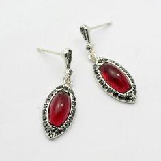 Italina Agate Red Earrings