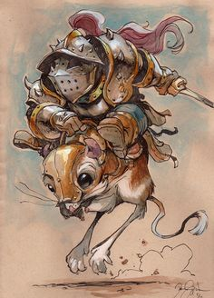 The Art of Danny Beck. He's got some clever work, super cute characters, and is extremely talented. Worth checking out.