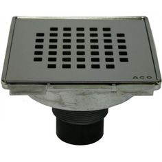 ACO Polymer Products 37233 Shower Point Quadrato Design Grate, As Shown