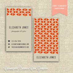 Business Card Template. $16.50, via Etsy.