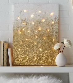 Glitter and Lights Canvas. Note: For how to instructions, click on the red Source underneath the picture