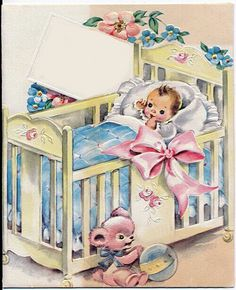 and baby images vintage baby card vintage baby card// WOW! I remember these! My mom had some in her keepsakes.