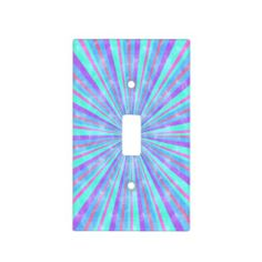 Multi colored grunge striped light switch cover