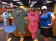 Elephant and Piggie Day | ALSC Blog  crafts, games, activities celebrating Gerald and Piggie! What fun!