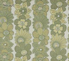 Bloemen behang retro wallpaper