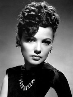 Gene Tierney in Shanghai Gesture wearing Joseff Hollywood Jewelry Old Hollywood Glamour, Vintage Hollywood, Hollywood Stars, Classic Hollywood, Hollywood Jewelry, Hollywood Divas, Hollywood Icons, Gene Tierney, Retro Updo