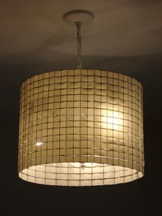 Lamp shade - chicken wire and ribbon