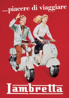Lambretta - Vintage Style Italian Poster Posters at AllPosters.com
