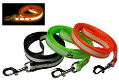 New Glow In the Dark Dog and Cat Safety Leash Lead Durable Strong TPU Leash Suitable for Small Medium and Large Cats or Dogs Color Orange By Downtown Pet Supply -- Details can be found by clicking on the image.